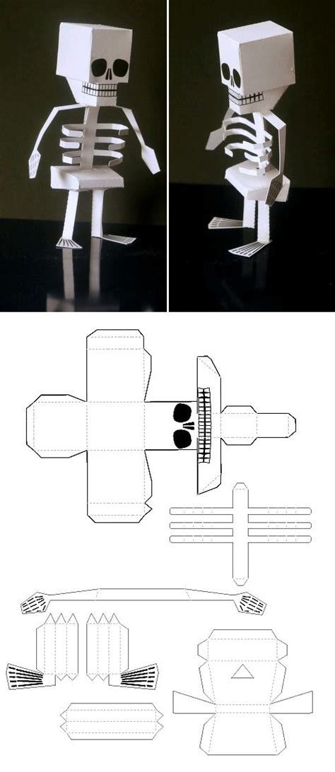 How To Make A Skeleton Out Of Paper - make a silly skeleton that can stand out of paper so you