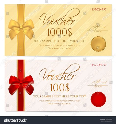 royalty free voucher gift certificate coupon 163829060