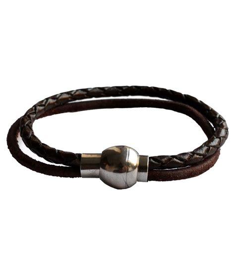 Buy String - cuero brown leather string bracelet buy rs 399