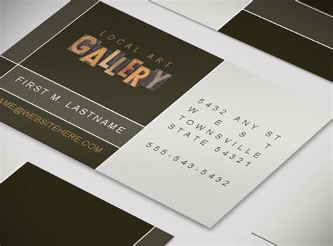 fine art gallery artist business card template