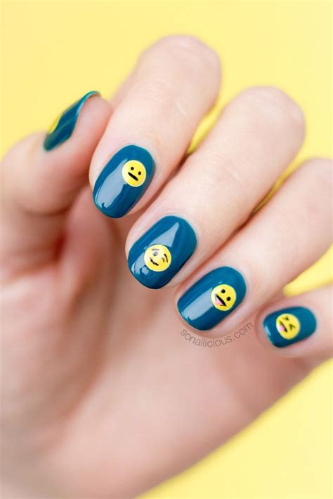 emoji nail art tutorial 6604 best olive these nails images on pinterest beleza