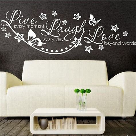 wall decal quotes for living room vinyl live laugh love wall art sticker lounge room quote