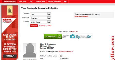 credit card template generator random name address and credit card numbers generator