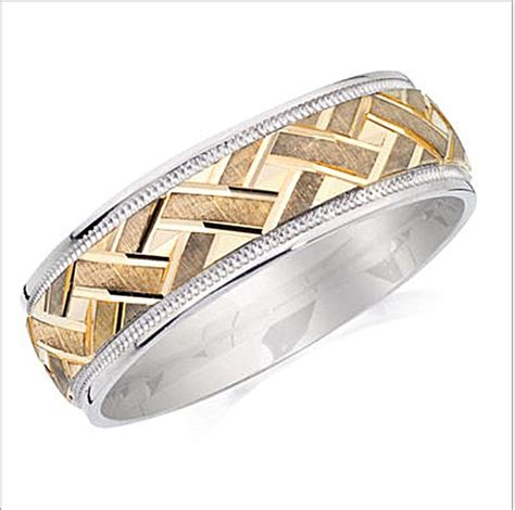 Wedding Bands Bc by Mens Wedding Band Two Tone Yellow Gold White Mens