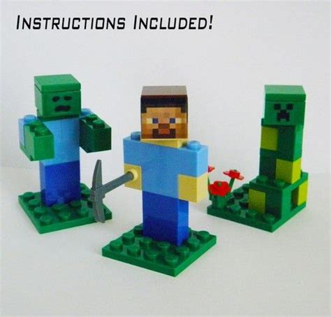 Origami Minecraft Pickaxe - lego minecraft lot three minifigures steve and