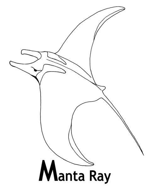 manta ray coloring page animals town animal color