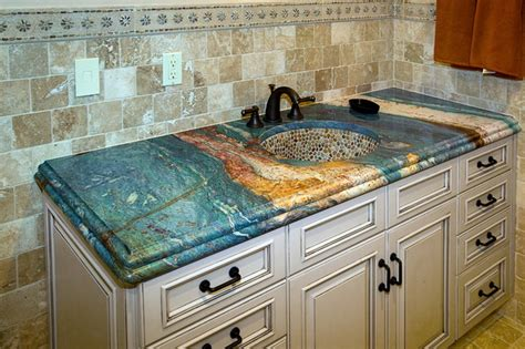 unique countertop ideas decorative unique granite bathroom countertops color ideas