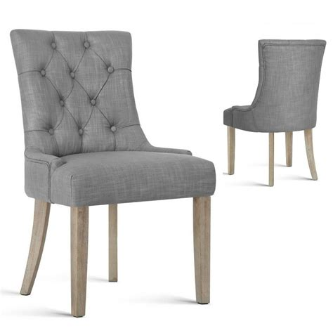 Provincial Dining Chairs Antique Provincial Style Dining Chair Tufted Button Design Seat Bedroom Ebay