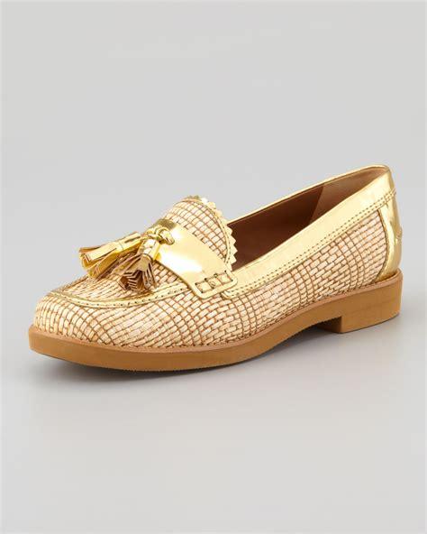 burch loafers burch careen metallicraffia runway tassel loafer in