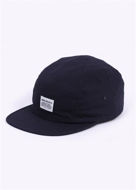 Five Panel Cap Navy norse projects ripstop 5 panel cap navy