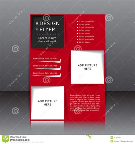 flyer template red vector design of the red flyer with black elements and