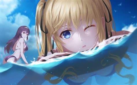 anime girl swimsuit wallpaper anime girls saenai heroine no sodatekata kasumigaoka