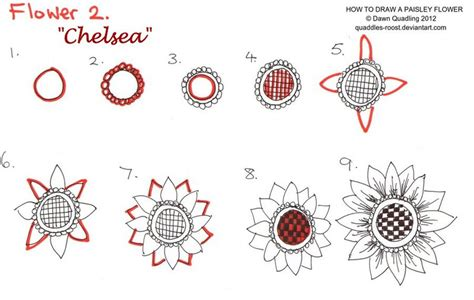 doodle flowers tutorial how to draw paisley flower 02 chelsea by quaddles roost