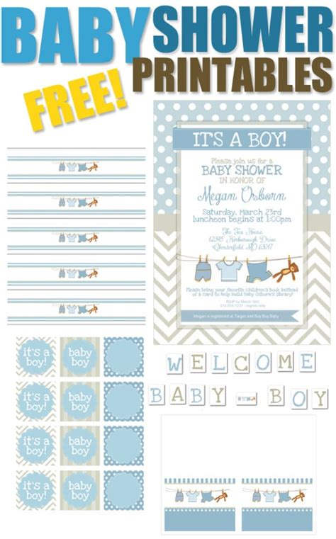 15 Free Baby Shower Printables Pretty My Party Free Printable Baby Shower Favor Tags Template