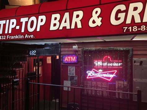 tip top bar grill tip top bar and grill restaurant 432 franklin ave in brooklyn ny tips and