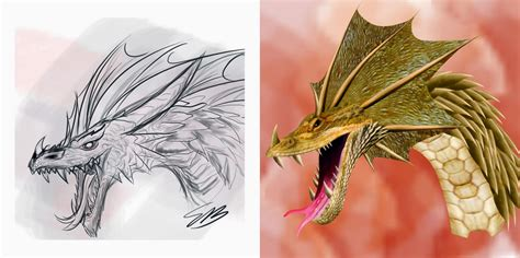 tutorial menggambar katak cara menggambar naga di photoshop desain sekarang