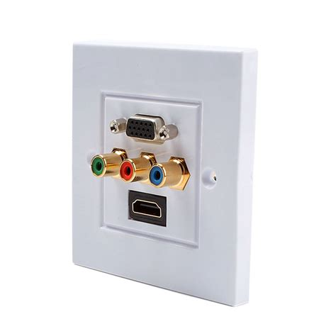 Vga Outlet Hdmi Outlet hdmi 3rca vga composite audio socket wall plate