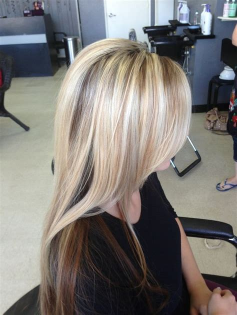 pictures of blonde hair with low lights crown highlights and low lights yelp hair pinterest