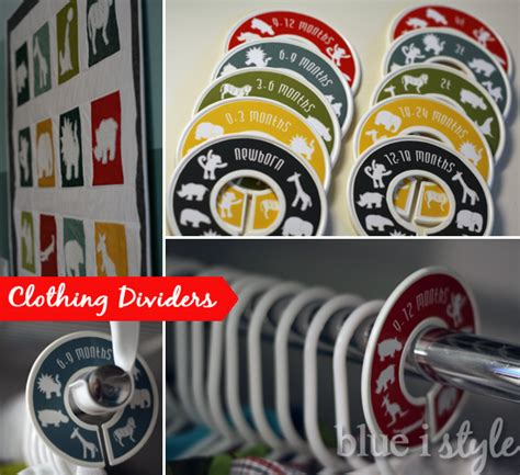 Closet Rod Dividers by Organizing With Style Closet Rod Divider Tutorial Blue