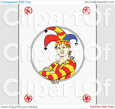 royalty free rf clipart illustration of a joker playing