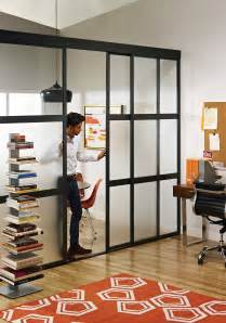 Glass Room Divider Sliding Glass Room Dividers In Home Office