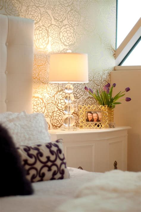 gold accent wall photo page hgtv