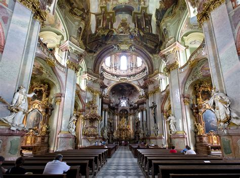 really rich decoration of baroque architecture at st baroque architecture czech republic church of st