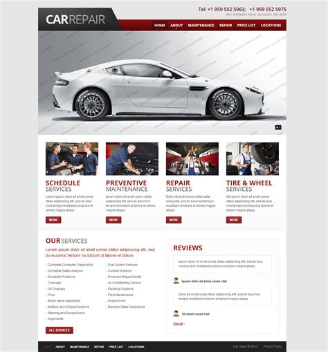 auto template 22 best premium car website templates free premium