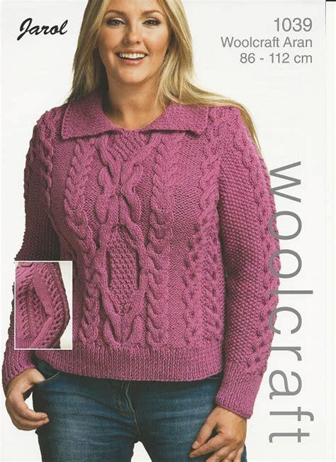 woolcraft knitting patterns woolcraft cable sweater aran knitting pattern 1039