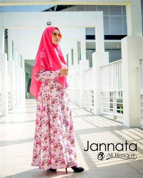 maxi katun jepang jannata pink gamis modern murah cantik
