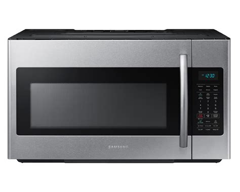 samsung microwave samsung me18h704sfs 1 8 cu ft the range microwave w sensor cooking stainless steel
