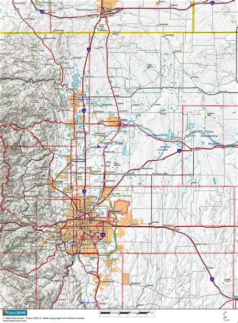 map of colorado front range colorado front range map world map 07
