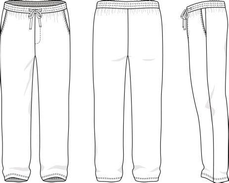 Sweatpants Template Vector Blank Mens Sweatpants Vector Art Thinkstock