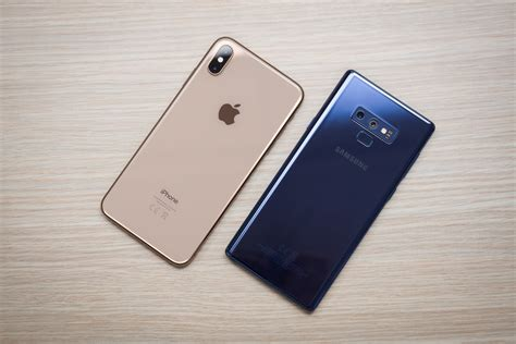 iphone xs max vs samsung galaxy note 9 phonearena