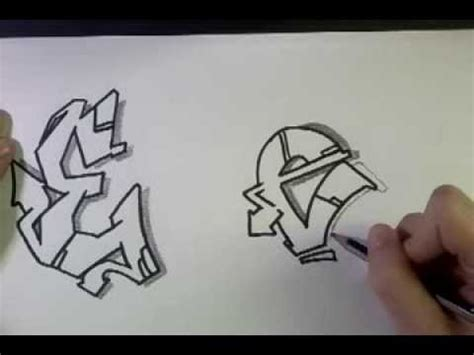 draw graffiti letter   paper youtube