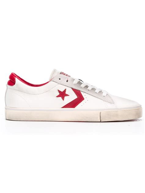 sneakers for converse logo sneakers in for white lyst