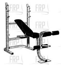 weider weight bench parts weider pro 205 webe20560 fitness and exercise