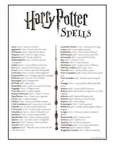 harry potter list of spells bambinis net arts and crafts pinterest pandora homemade and