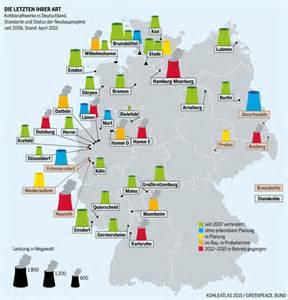 Die karte zeigt die letzten kohlekraftwerke in deutschland quelle