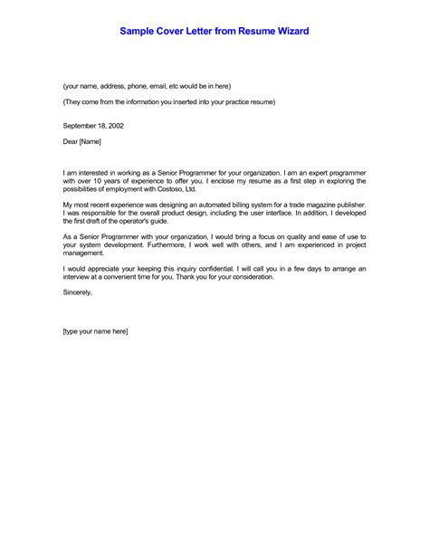 writing a resume cover letter samples cover letter example for