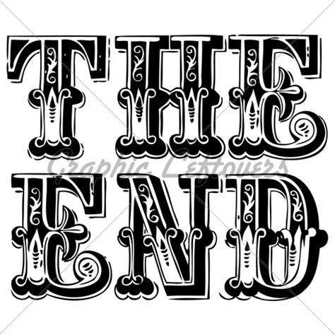 Vintage Lettering Fonts Vector Vintage The End Lettering Jpg 500 215 500 Pixels