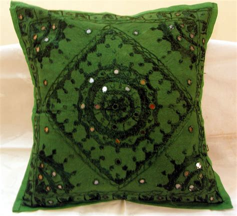 Hippie Home Decor embroidered ethnic indian cushion covers decorated toss