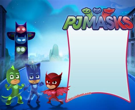 pj masks birthday card template marcos de pj masks o h 233 roes en pijamas marcos infantiles