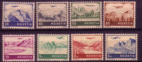 Brief Schweiz Briefmarke Briefmarken Schweiz Michel Nr 387 394 Flugzeug 220 Landschaft Postfrisch G 252 Nstig Kaufen Im