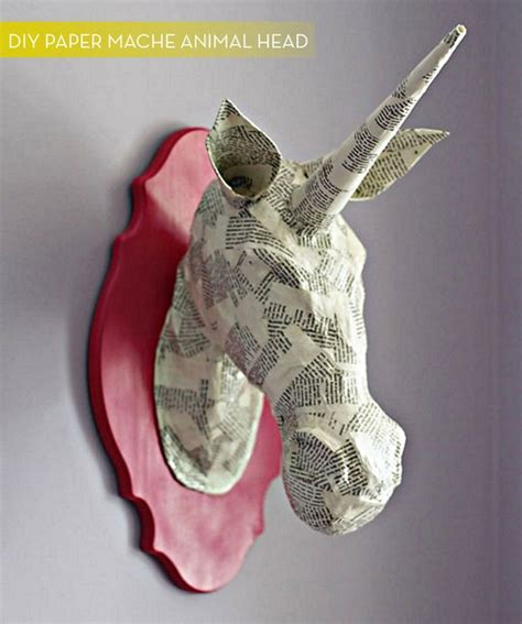 How To Make Large Paper Mache Animals - how to make a diy paper mache animal mount curbly