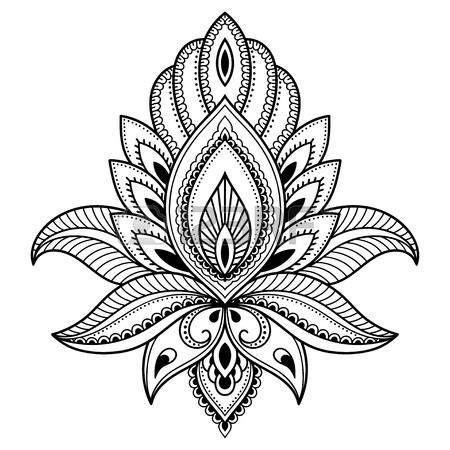 indian inspired tattoo designs lotus flower designs henna flower template