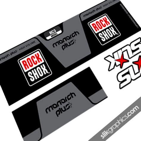 Rockshox Monarch Stickers by Rockshox Monarch Plus Style Shock Decal Slik Graphics