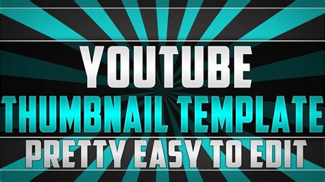 Photoshop Thumbnail Template thumbnail template free to use easy to edit