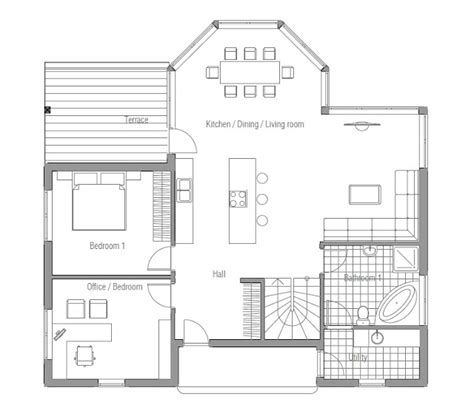affordable home floor plans affordable home plans classical affordable house plan ch90