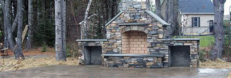 custom outdoor kitchen and fireplaces stonecraft maine yard pellet stoves gas stoves wood